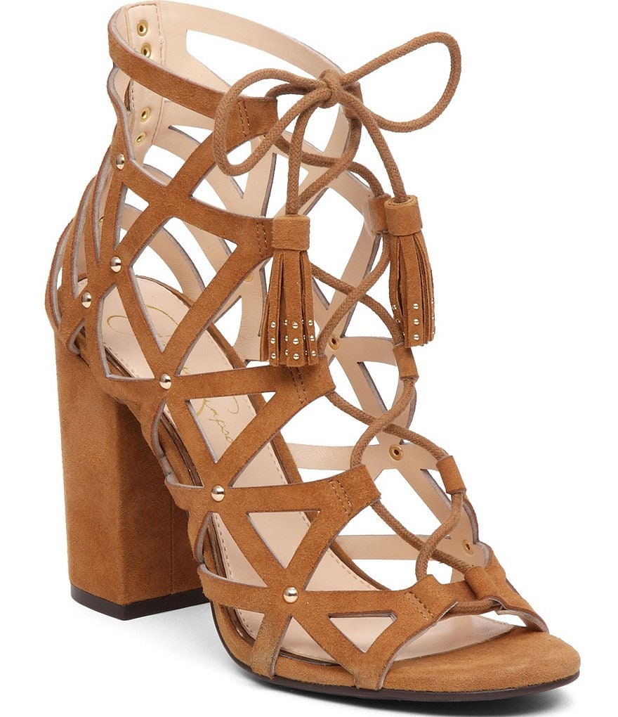 Jessica Simpson Kariba Ghillie Lace-Up Dress Sandals