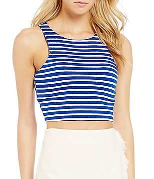 GB Striped Knit Crop Top