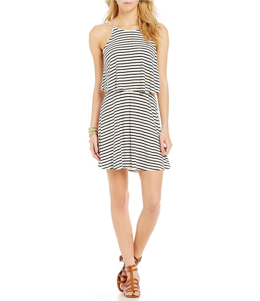 GB Popover Stripe Knit Dress