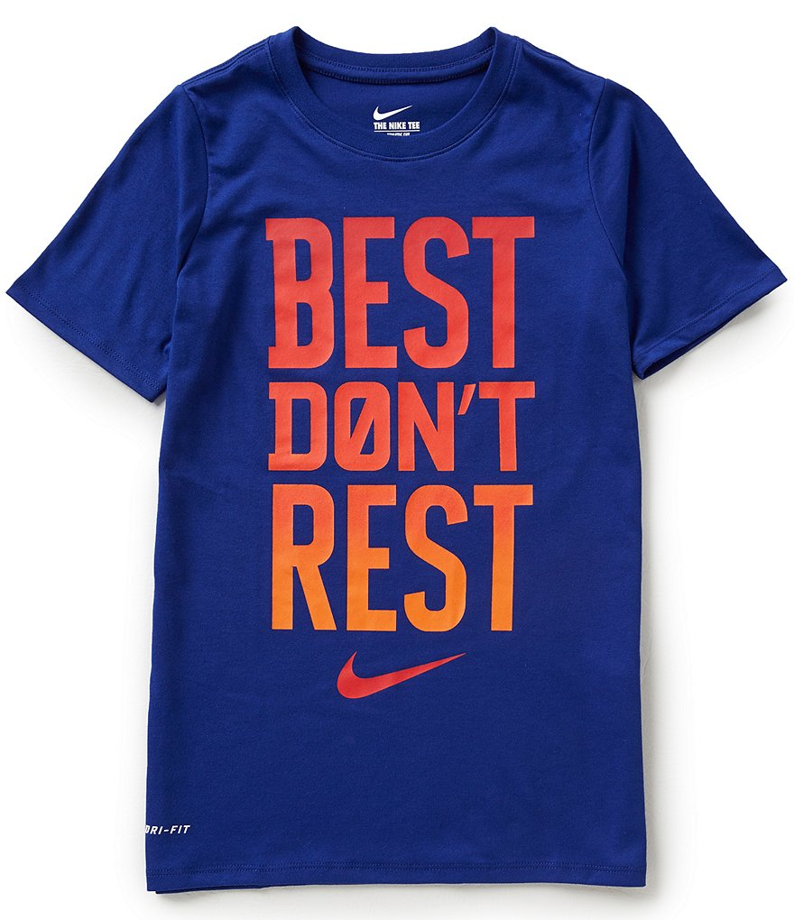 Nike Big Boys 8-20 Dri-FIT Best Don't Rest Short-Sleeve Graphic Tee