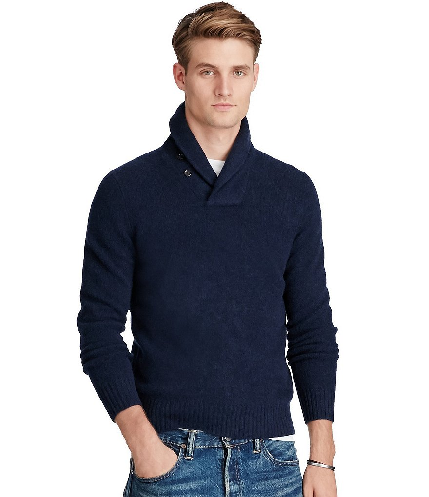 Polo Ralph Lauren Merino-Cashmere Shawl Sweater