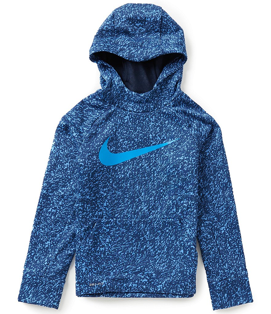 Nike Big Boys 8-20 Therma-FIT Fleece Printed Pullover Hoodie