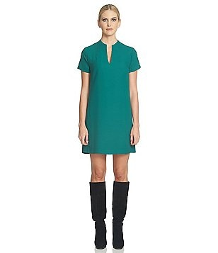 1. State Short Sleeve V-Neck Shift Dress