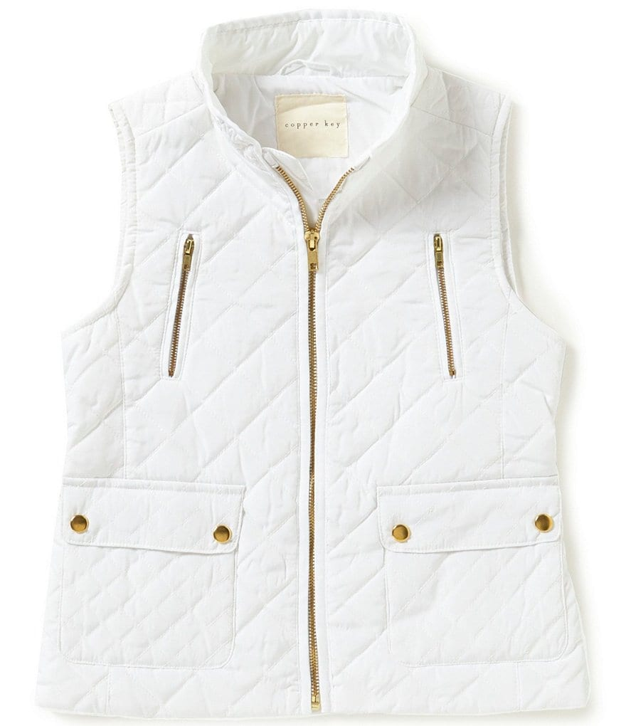 Copper Key Big Girls 7-16 Quilted Woven Vest