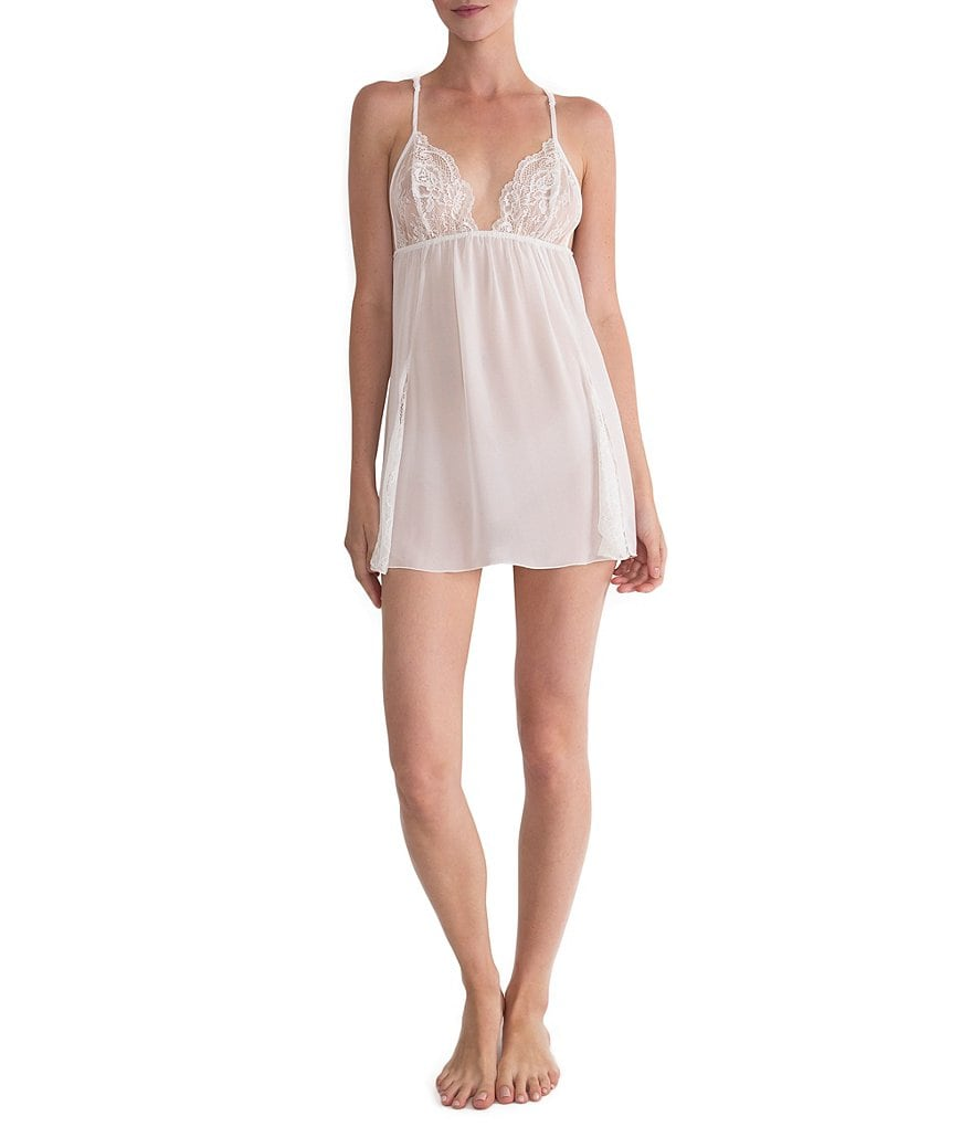 In Bloom by Jonquil Chiffon & Lace Racerback Chemise