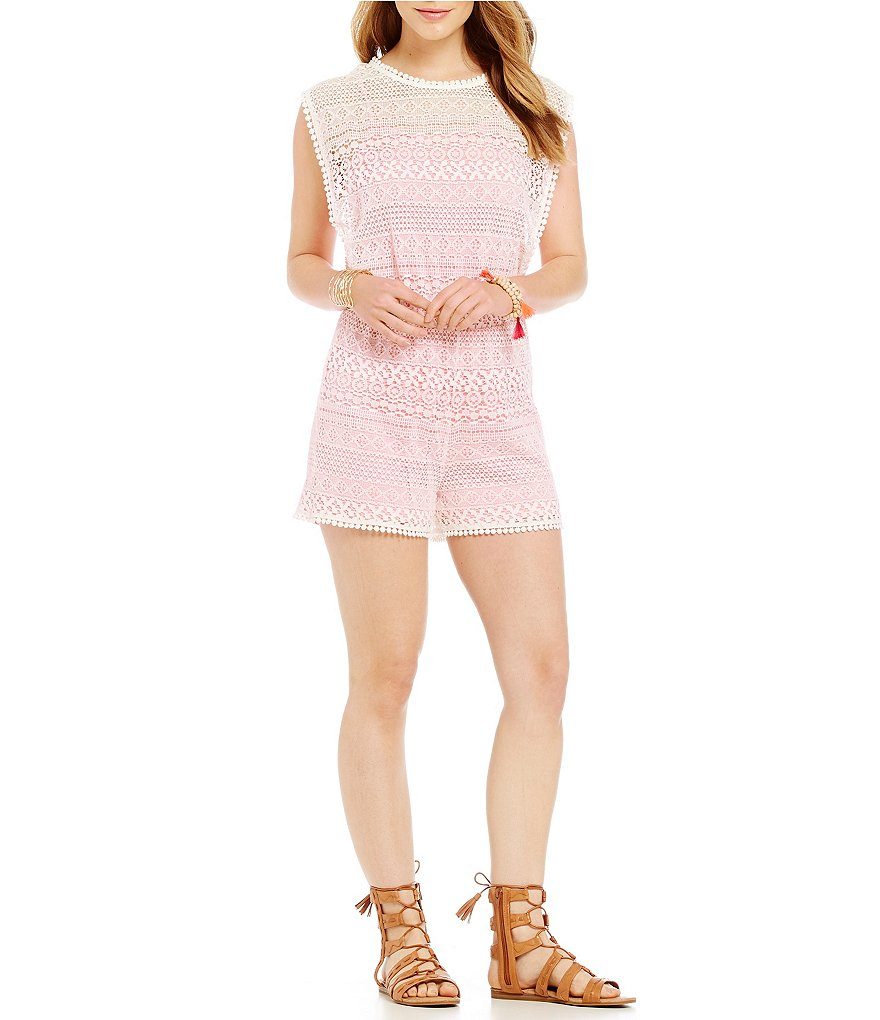 Copper Key Crochet Romper