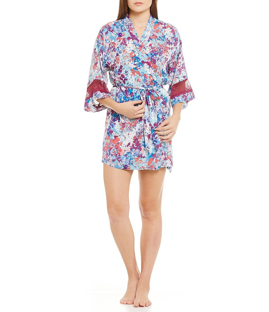 In Bloom by Jonquil Olivia Floral Satin Robe