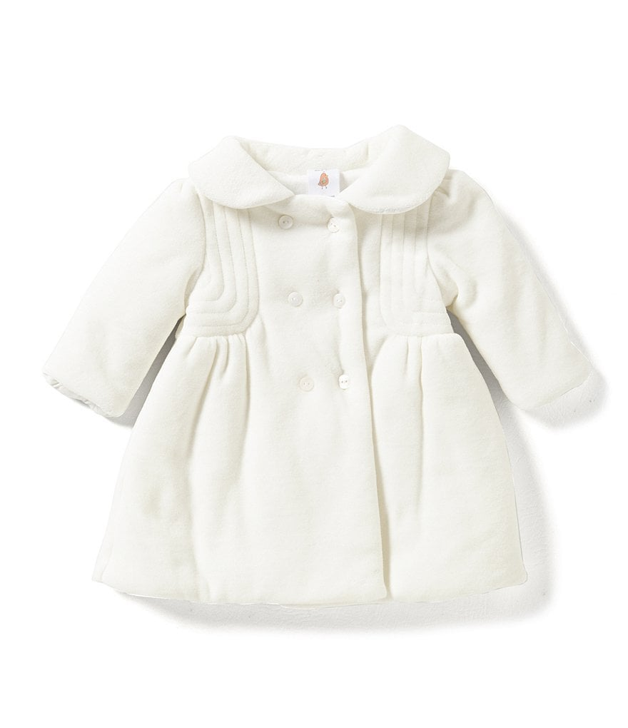 Starting Out Baby Girls 3-9 Months Velour Coat