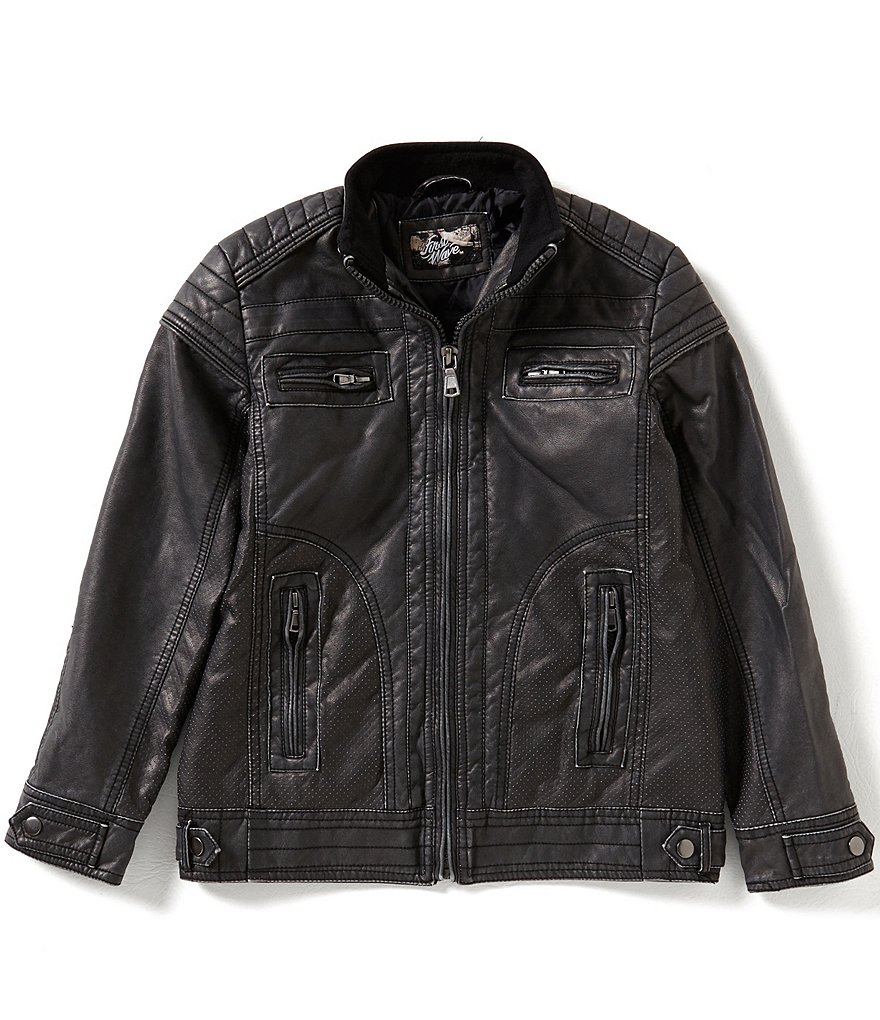 First Wave Big Boys 8-20 Faux-Leather Jacket