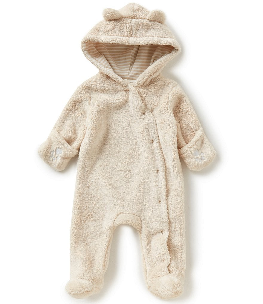 Starting Out Newborn-6 Months Plush Hooded Pram Coverall