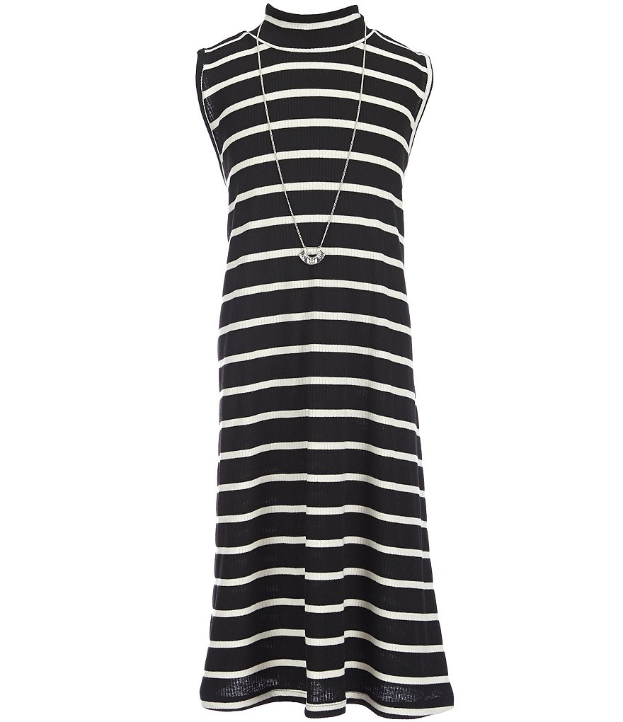 Soulmates Big Girls 7-16 Ribbed Knit Striped Dress