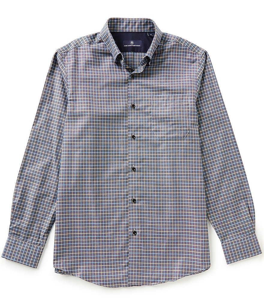 Hart Schaffner Marx Multi-Check Long-Sleeve Woven Shirt