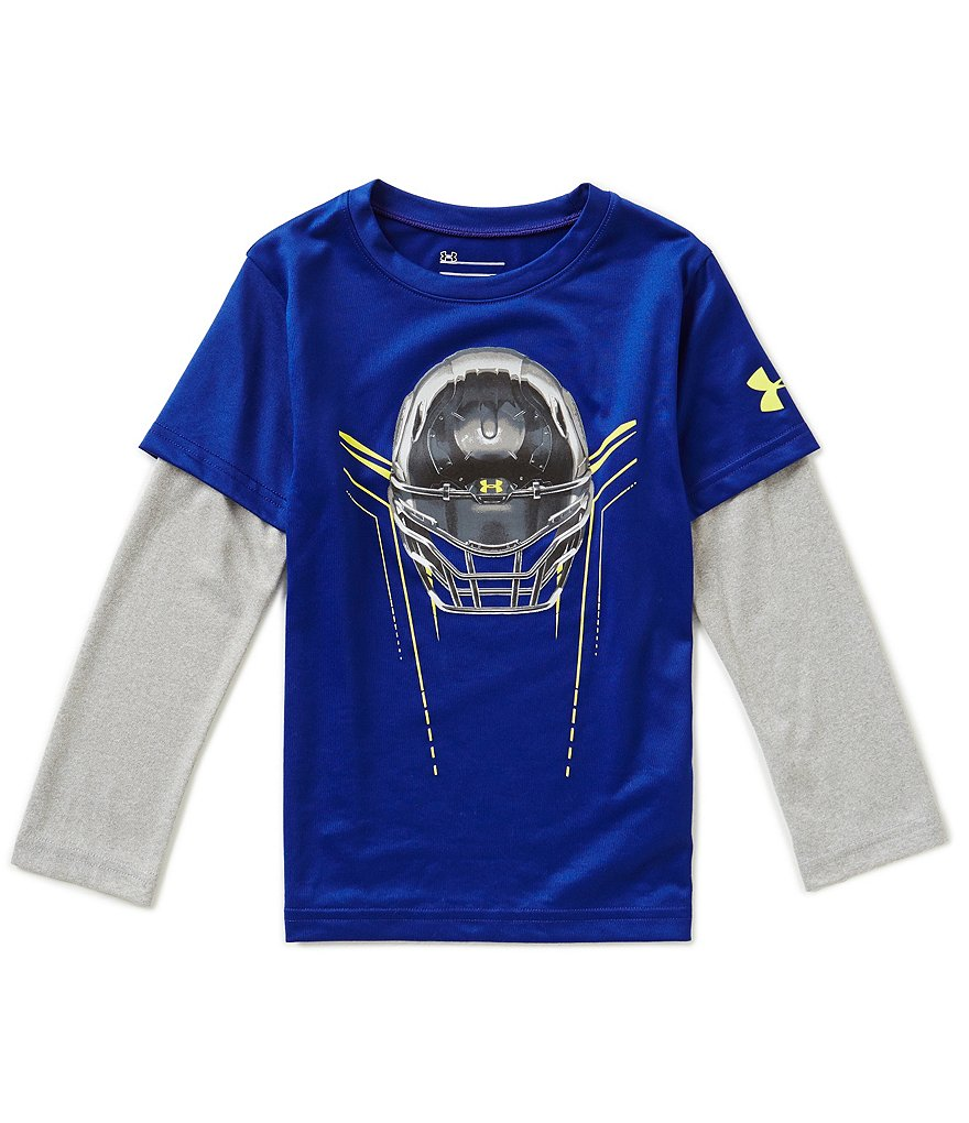 Under Armour Little Boys 4-7 Colorblock Iron Helmet Slider Tee