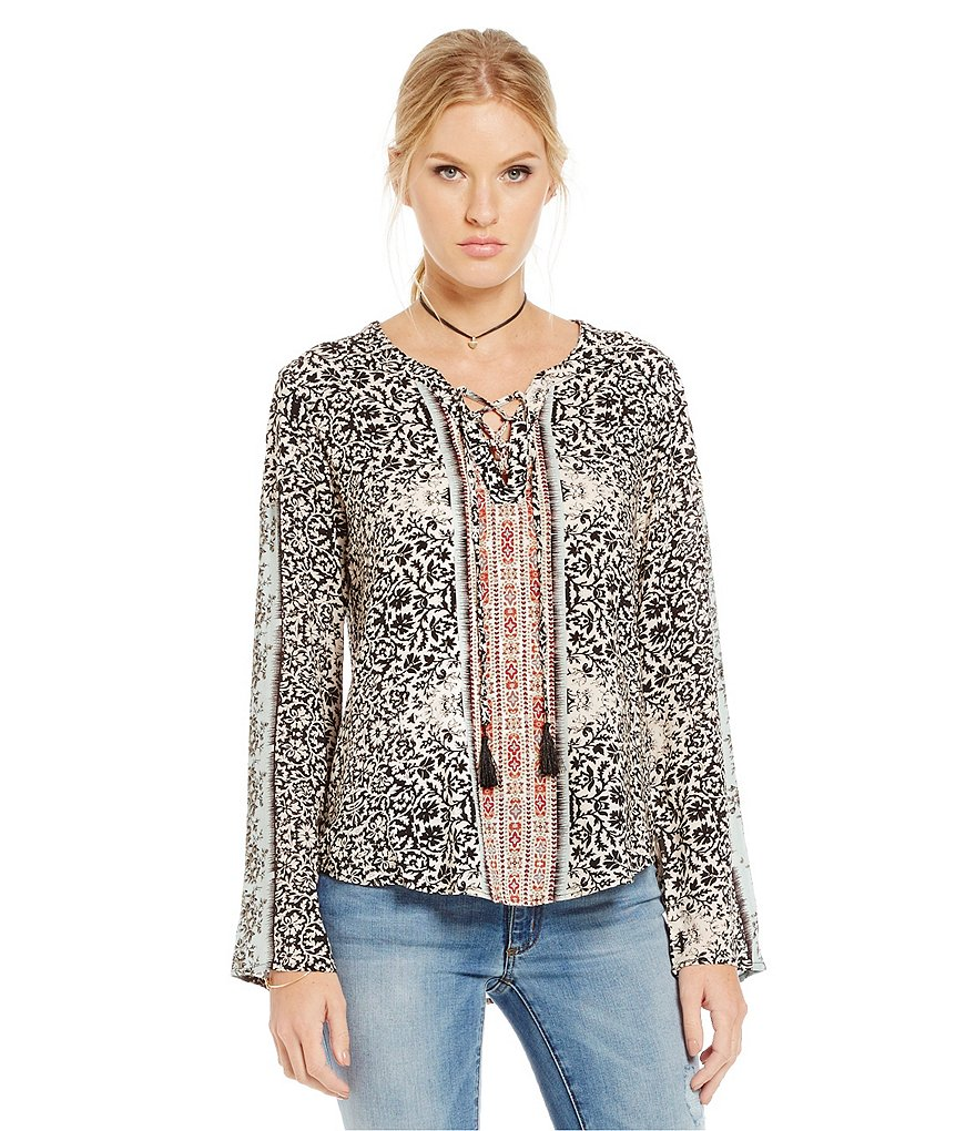 Buffalo David Bitton Troye Lace Up Top