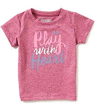 Under Armour Baby Girls 12-24 Months Play With Heart Short-Sleeve Tee