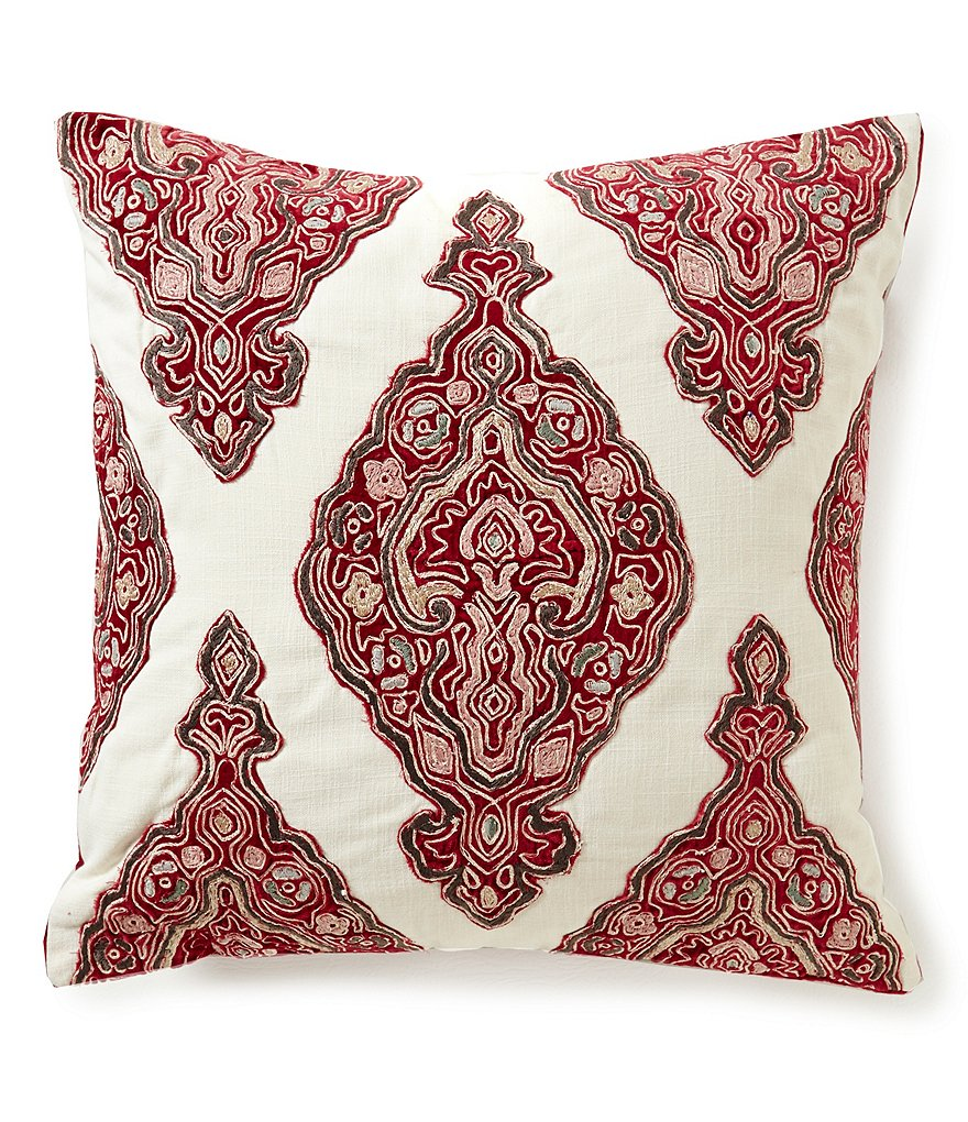 Southern Living Embroidered Medallion Pillow