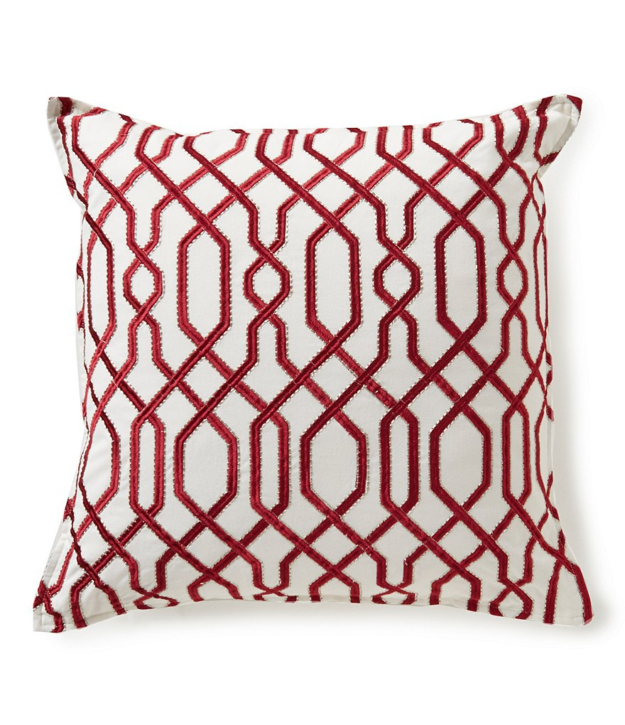 Southern Living Chain Link Embroidered Square Pillow