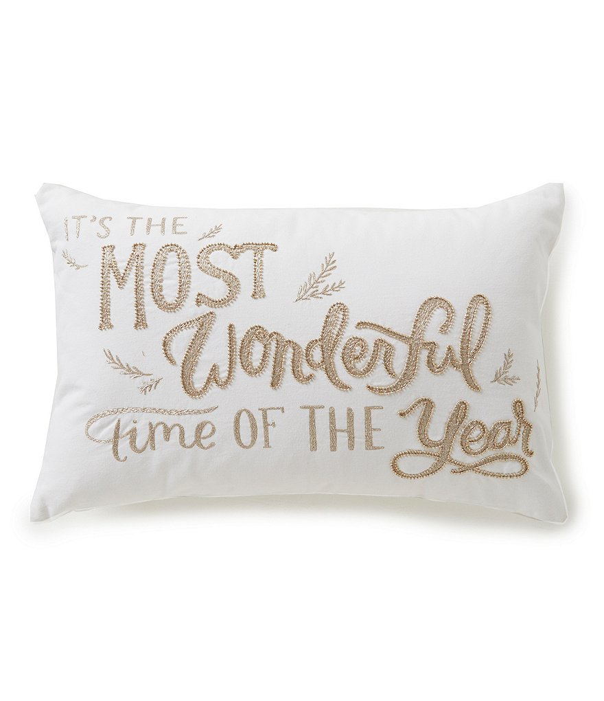 Southern Living It´s the Most Wonderful Time of the Year Embroidered Breakfast Pillow