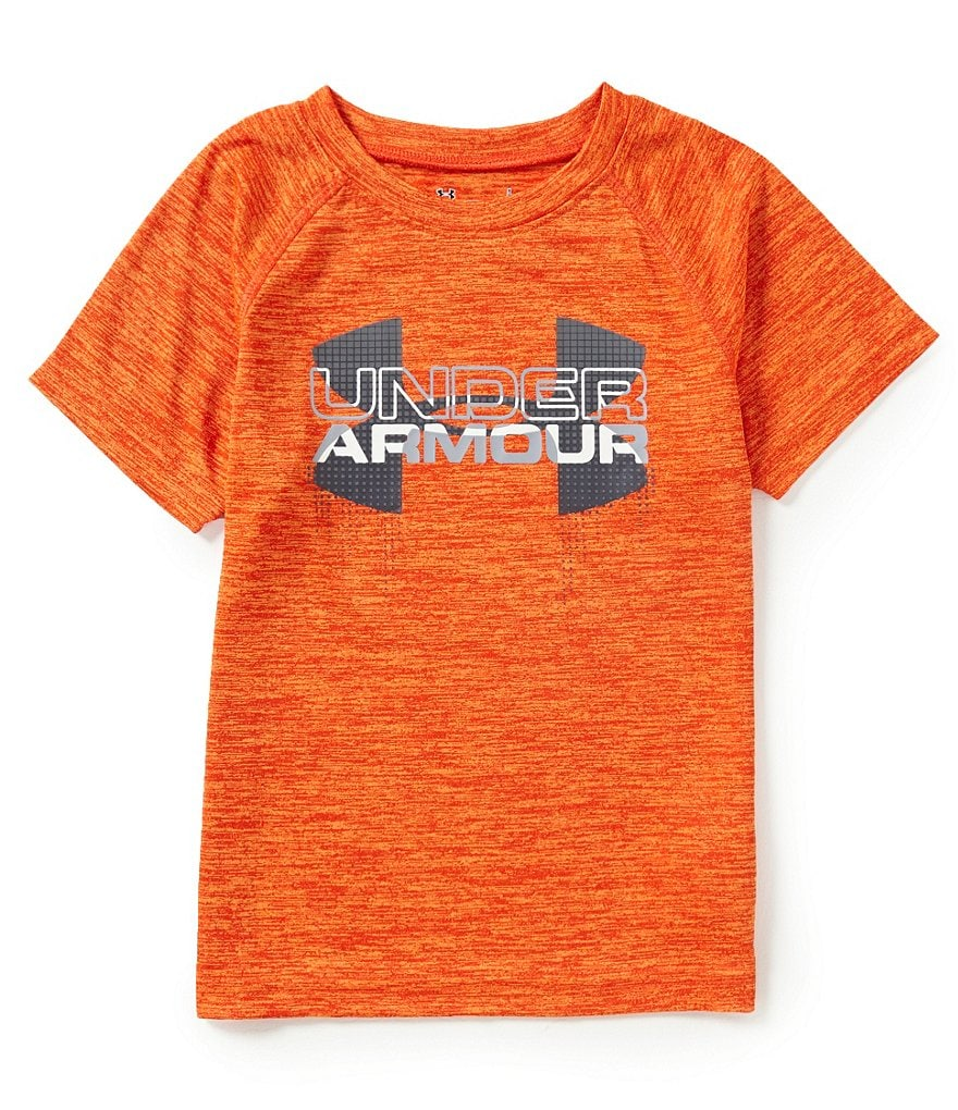 Under Armour Little Boys 4-7 Big Logo Hybrid Twist Short-Sleeve Tee