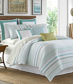 Tommy Bahama La Scala Breezer Cabana-Striped Cotton Comforter Set