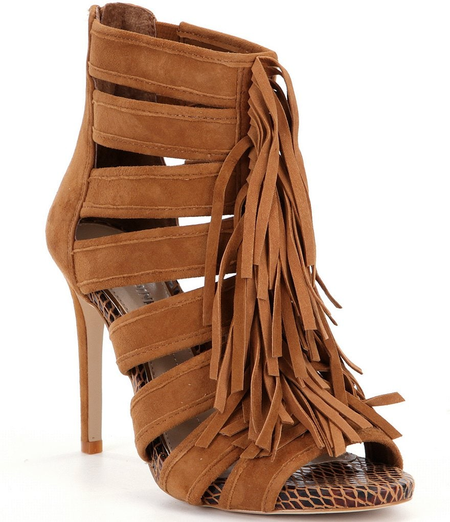 Gianni Bini Saleemah Fringe Peep-Toe Pumps