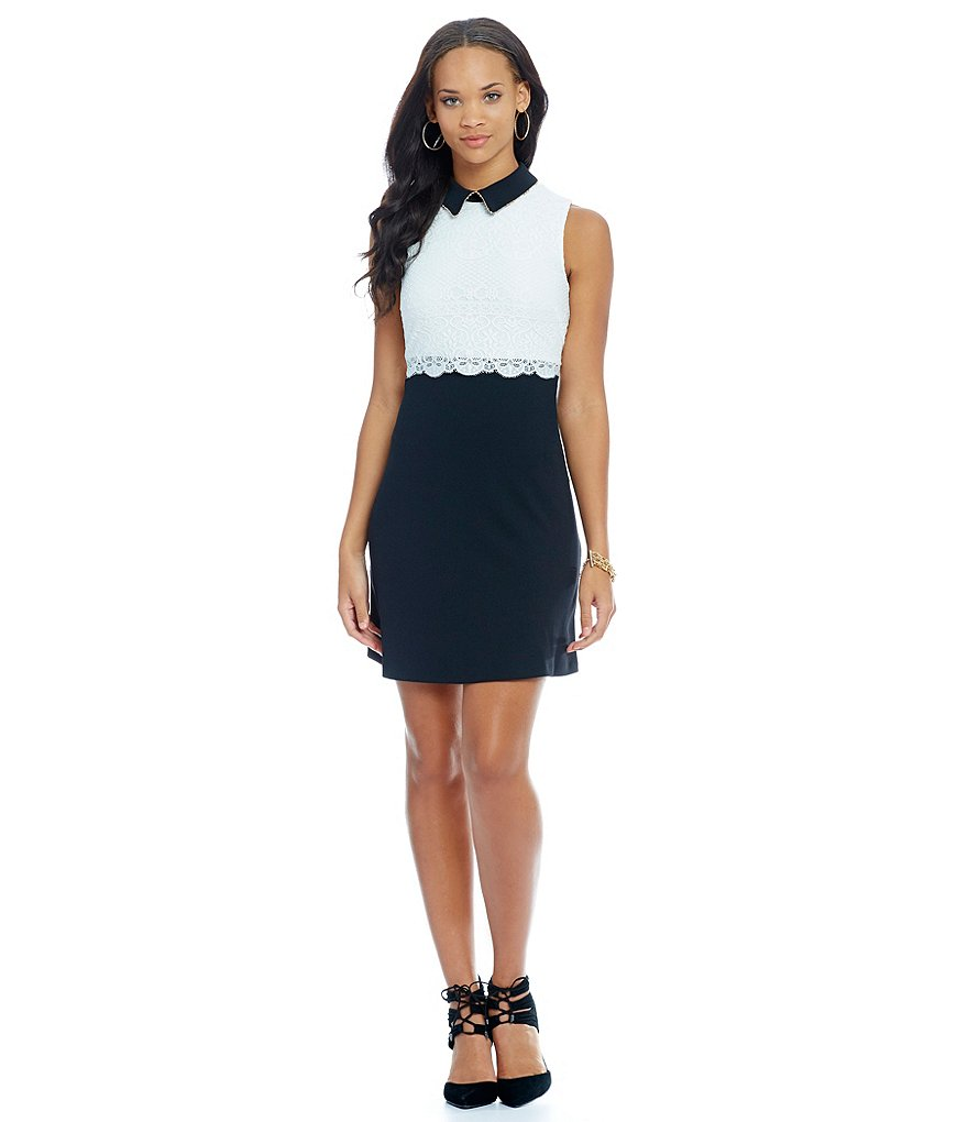 Jessica Simpson Collared Pop-Over Dress
