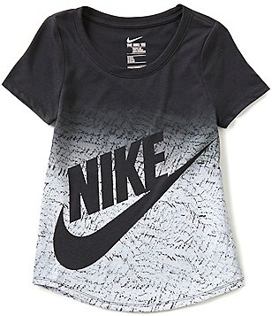 Nike Big Girls 7-16 Tri-Blend Futura Short-Sleeve Tee
