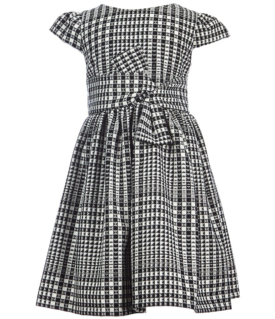Rare Editions Little Girls 2T-6X Plaid Bow Dress