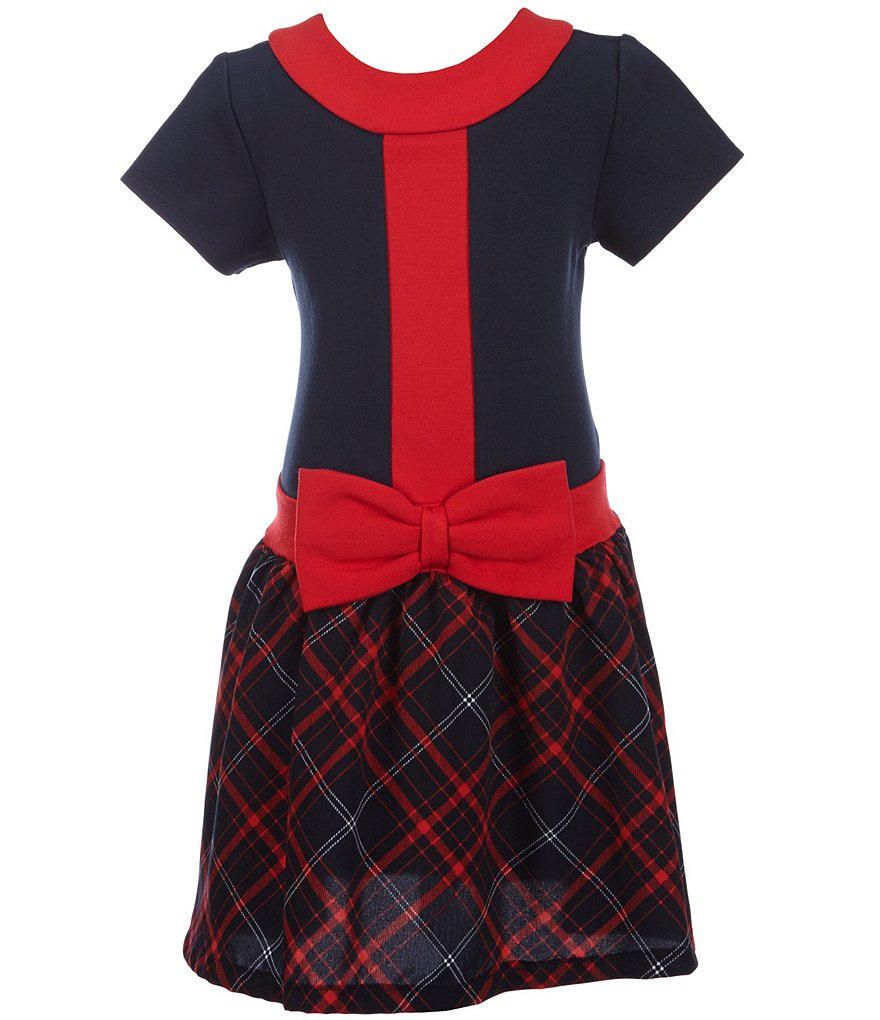 Rare Editions Little Girls 2T-6X Colorblock-Plaid Bow Dress