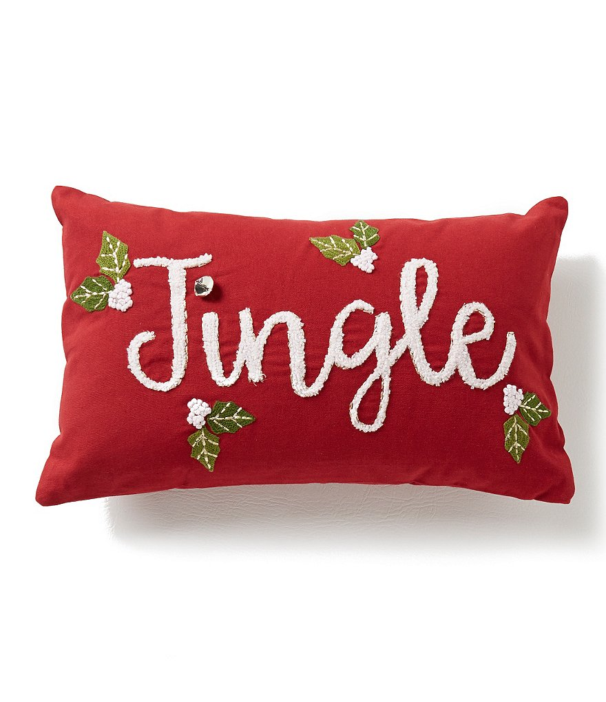 Noble Excellence Jingle Embroidered Pillow