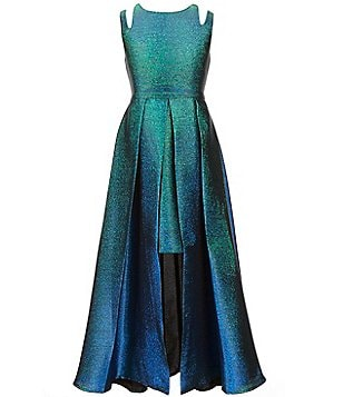 Tween Diva Big Girls 7-16 Metallic Brocade Dress
