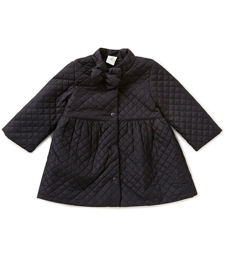 Starting Out Baby Girls 12-24 Months Bow-Detailed Quilted Coat