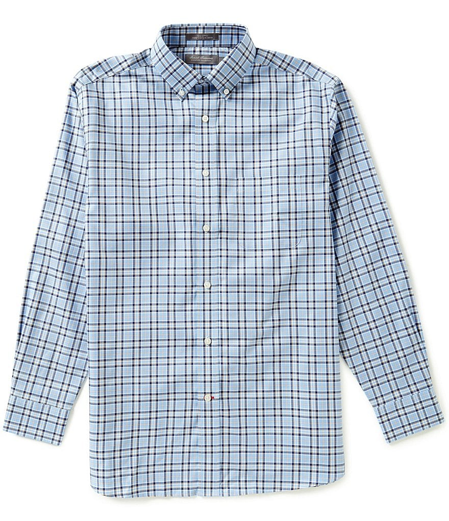 Daniel Cremieux Signature Long-Sleeve Plaid Oxford Woven Shirt