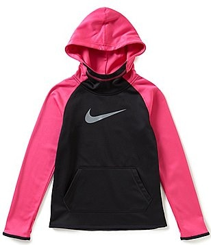 Nike Big Girls 7-16 Therma Color Block Hoodie