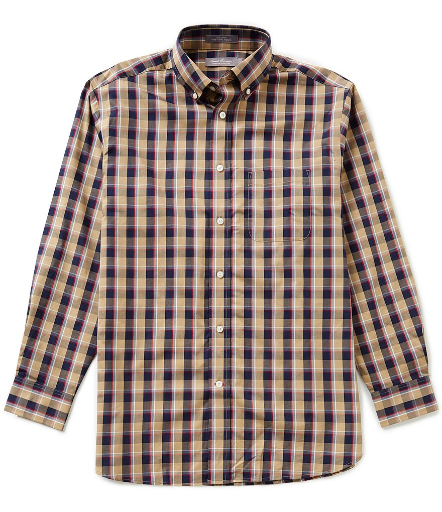 Daniel Cremieux Signature Long-Sleeve Twill Plaid Woven Shirt