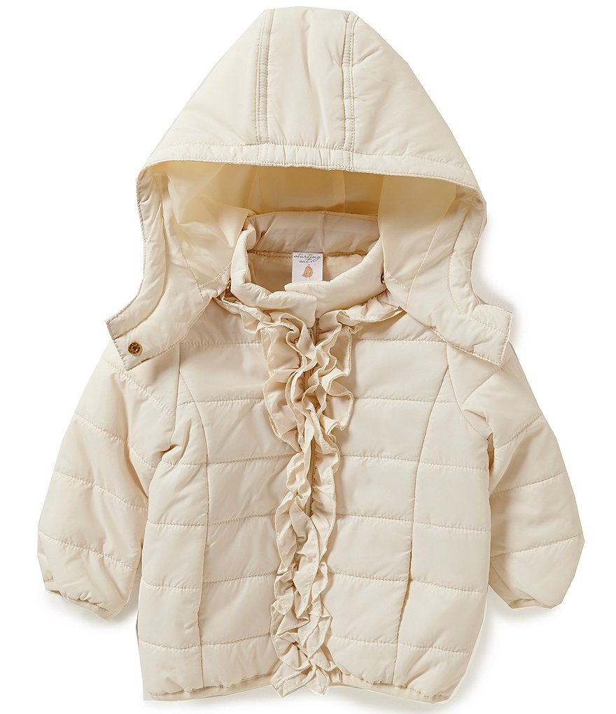 Starting Out Baby Girls 12-24 Months Ruffled Puffer Coat