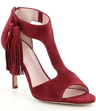 kate spade new york Inga Suede Ankle Strap Tassel Detail Stiletto Dress Sandals
