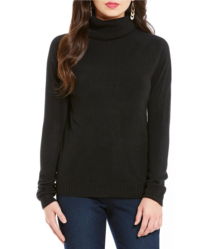 Nouveaux Long Sleeve Ribbed Turtleneck Chunky Pullover