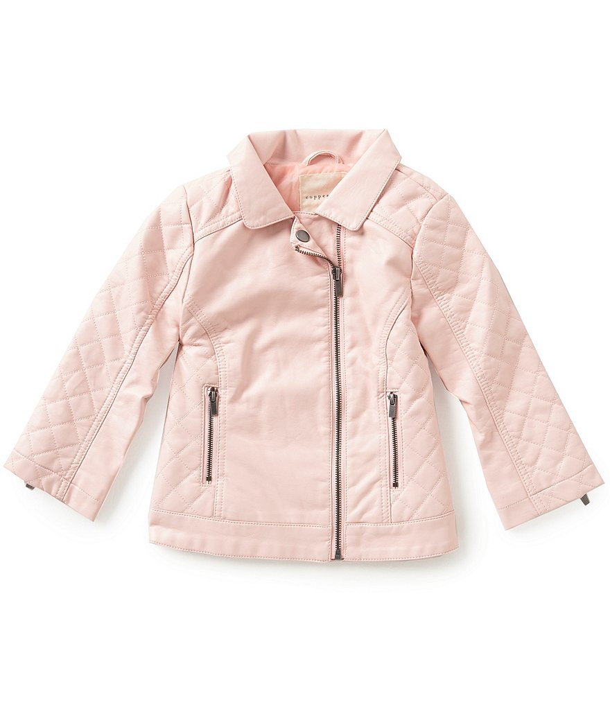 Copper Key Little Girls 2T-6X Quilted Moto Jacket