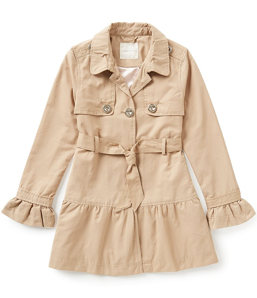 Copper Key Big Girls 7-16 Twill Trench Coat