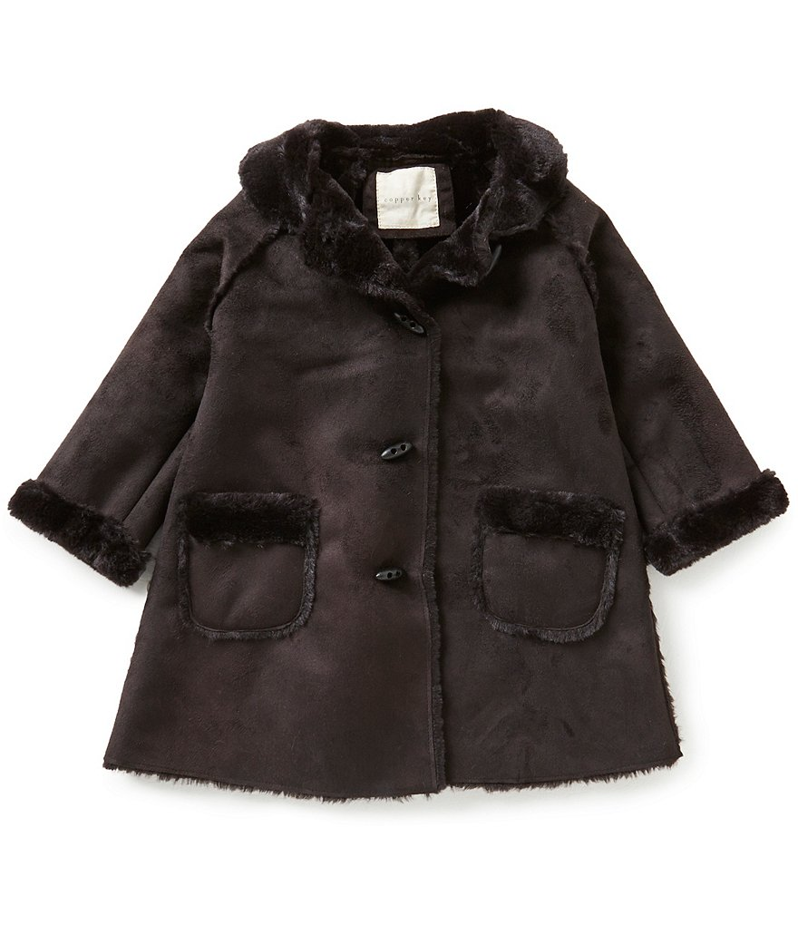 Copper Key Little Girls 2T-6X Faux-Shearling Swing Jacket