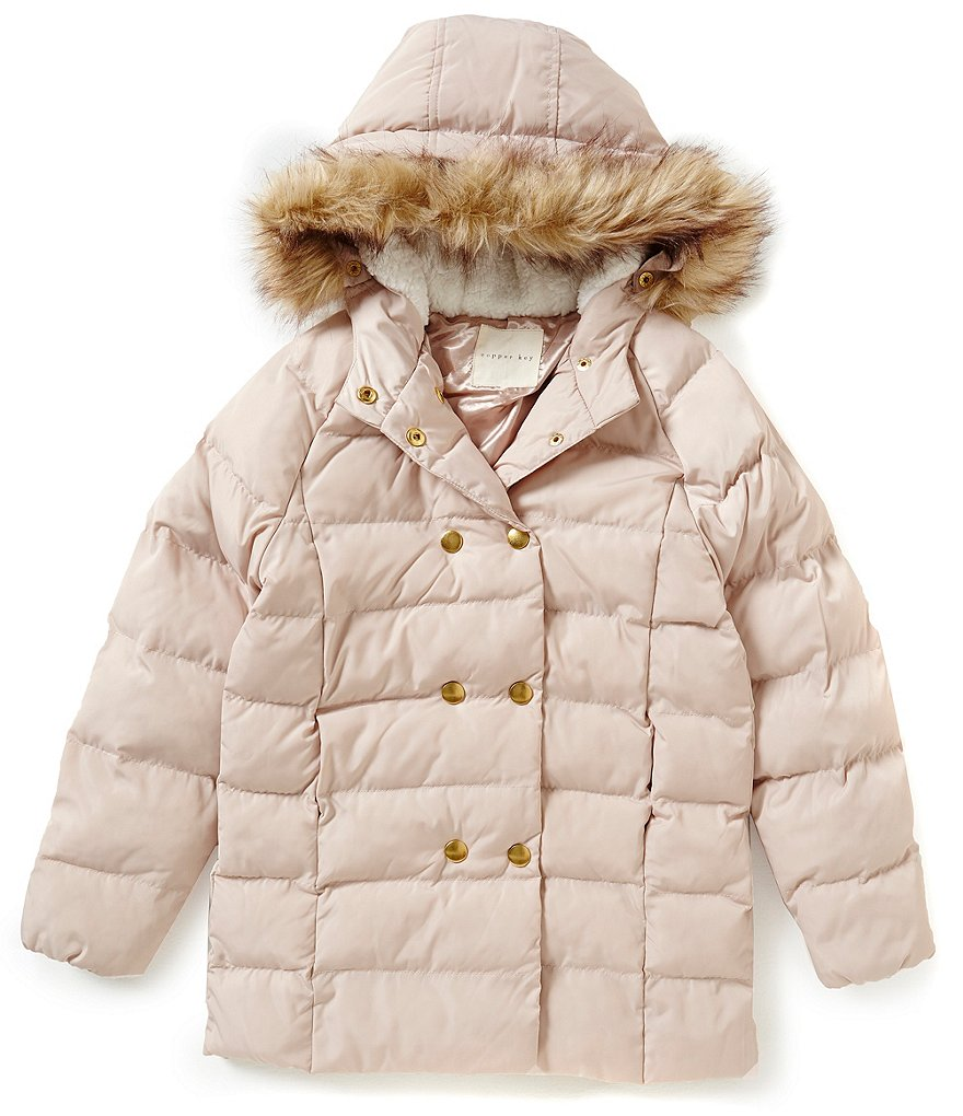 Copper Key Big Girls 7-16 Faux-Fur Jacket