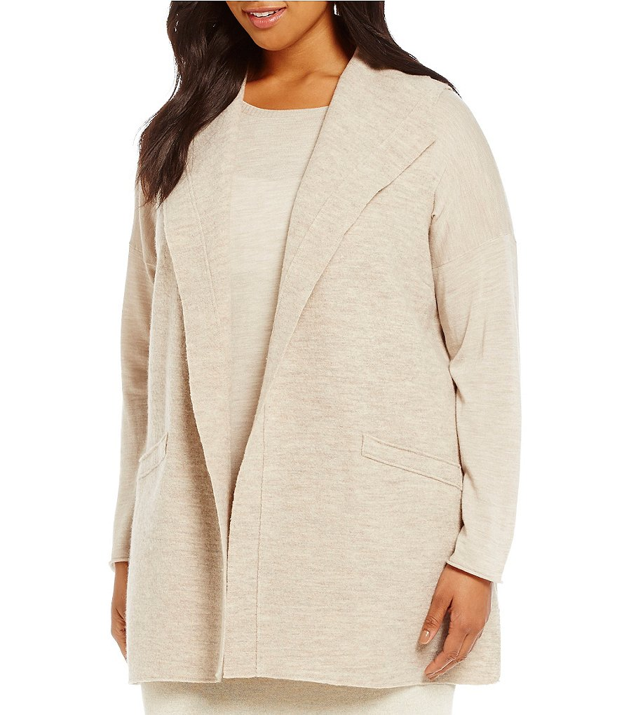 Eileen Fisher Plus Funnel Neck Vest
