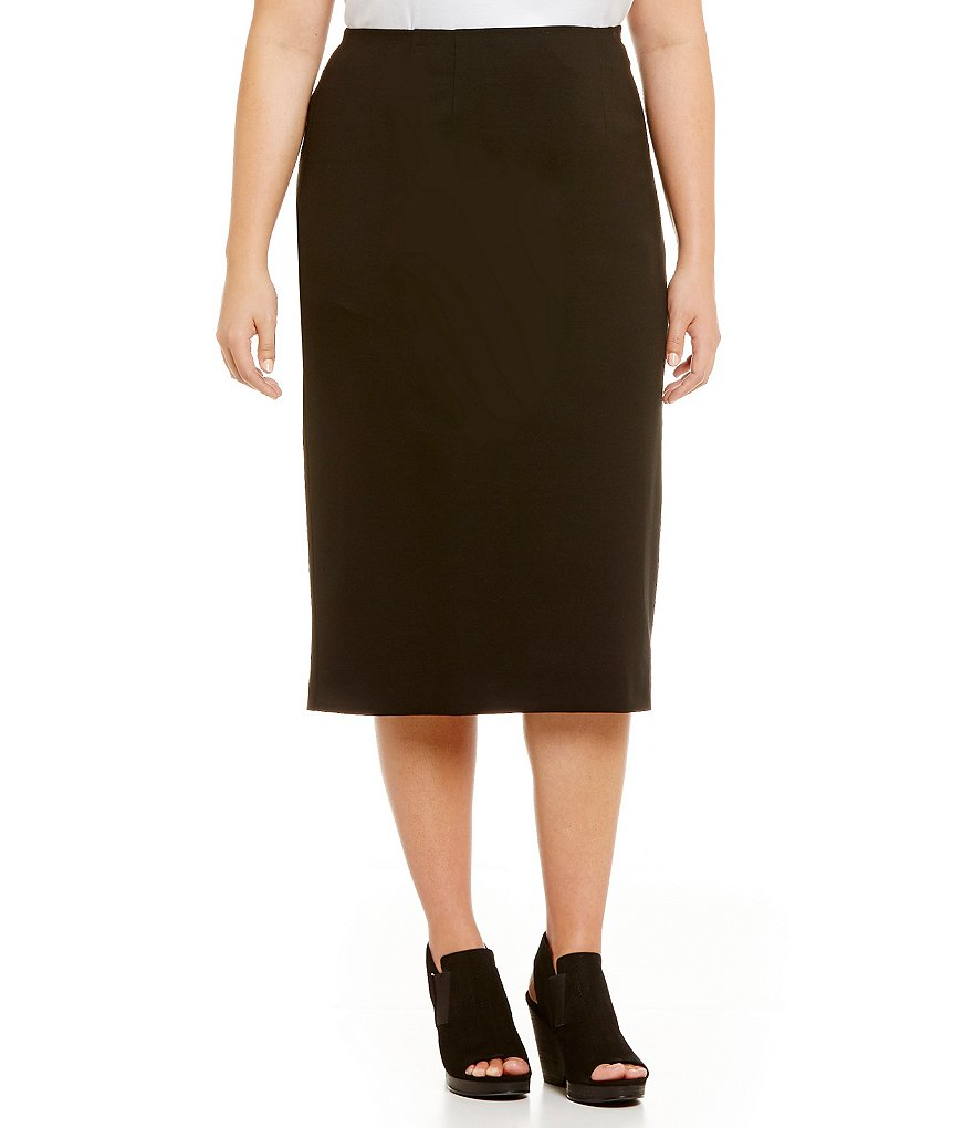 Eileen Fisher Plus Ponte Pencil Skirt