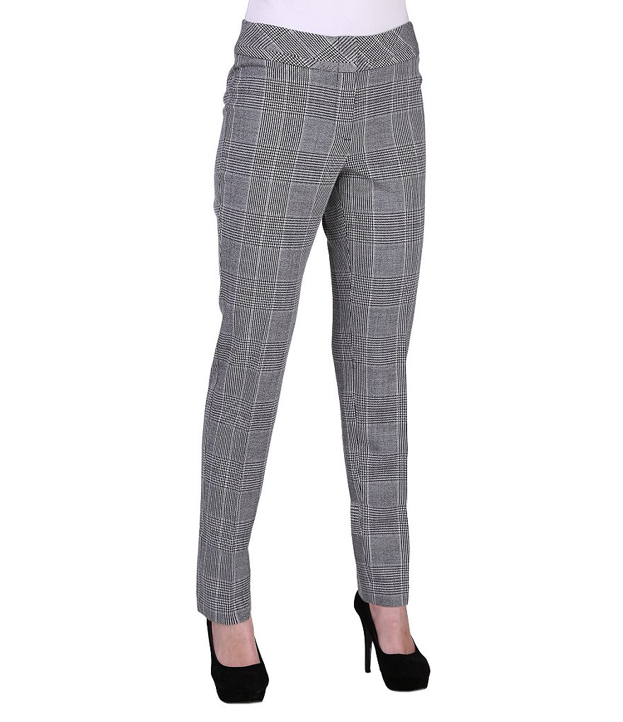 Peter Nygard Houndstooth Morgan Slim Leg Pants
