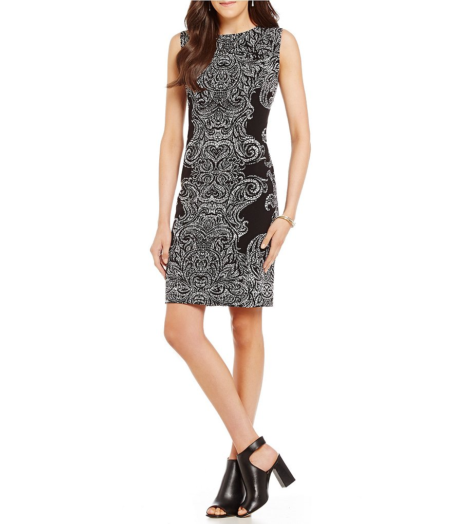Peter Nygard Sloane Paisley Sheath Dress