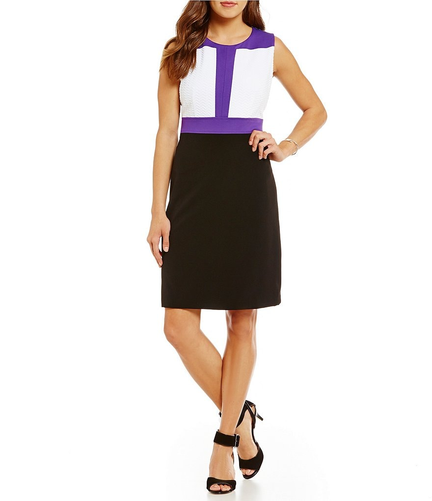 Peter Nygard Color Block Dress