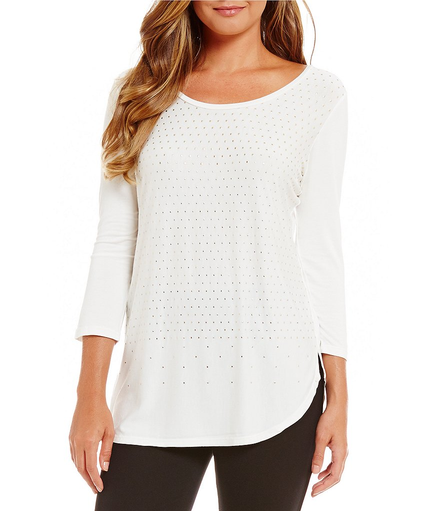 Peter Nygard Embellished Knit Top