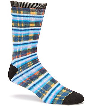 K. Bell Rugby Plaid Crew Socks