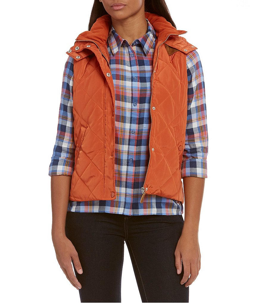 Cremieux Kerri Hooded Quilted Vest